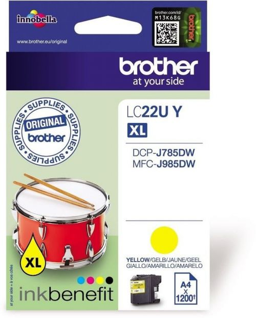 Brother LC22UY Yellow Ink 15ml