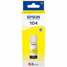 Load image into Gallery viewer, Epson C13T00P440 104 Yellow Ink 70ml