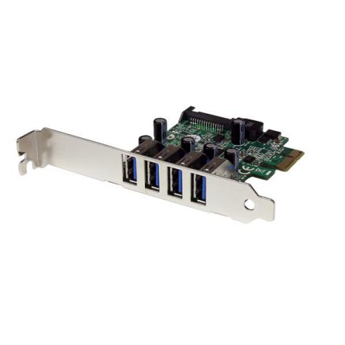 4 Port PCIe USB 3.0 Controller Card UASP