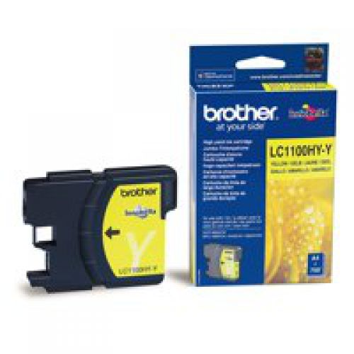 Brother LC1100HYY Original Yellow Ink Cartridge (750 pages)