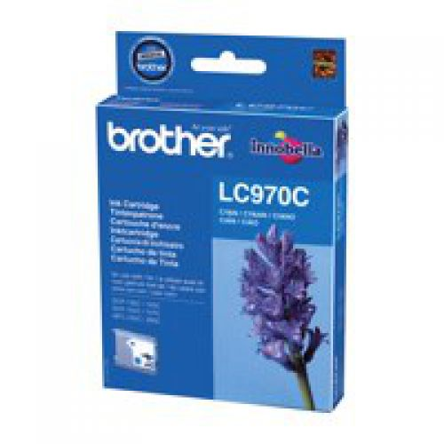 Brother LC970C Original Cyan Ink Cartridge (300 pages)