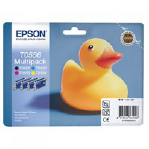Epson C13T05564010 T0556 Black Colour Ink 4x8ml Multipack