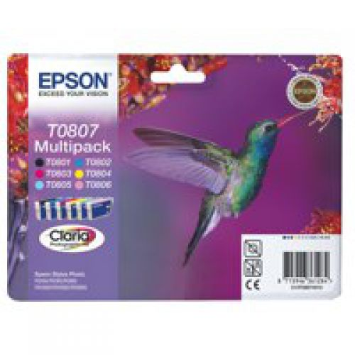 Epson C13T08074011 T0807 Colour Ink 6x7ml Multipack