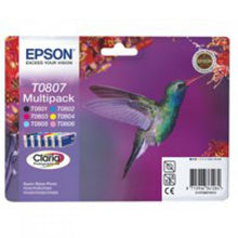Load image into Gallery viewer, Epson C13T08074011 T0807 Colour Ink 6x7ml Multipack