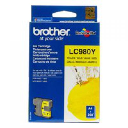 Brother LC980Y Yellow Ink 6ml
