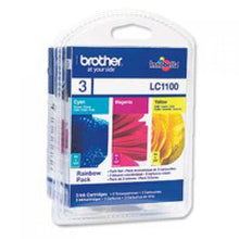 Load image into Gallery viewer, Brother LC1100RBWBP Colour Ink 3x6ml Multipack