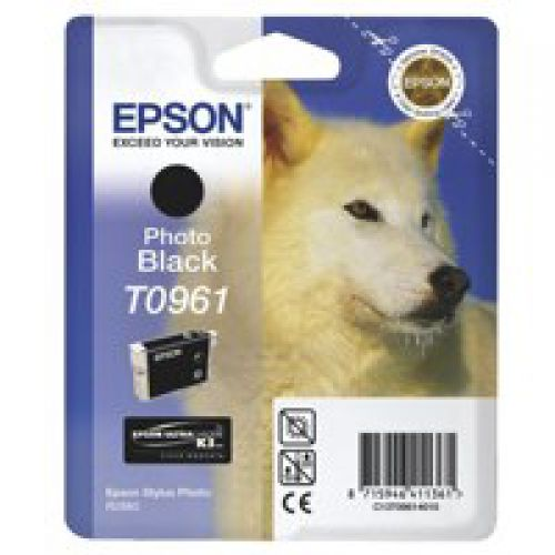 Epson C13T09614010 T0961 Black Ink 11ml