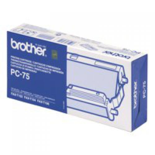 Brother PC75 Original Black Fax Ribbon Inc. 144 Sheet Ribbon
