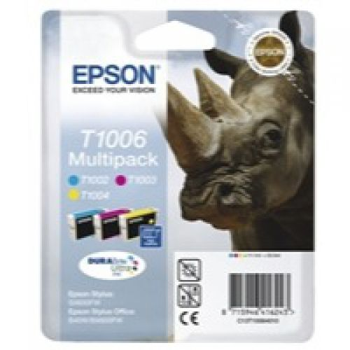 Epson C13T10064010 T1006 Colour Ink 3x11ml Multipack