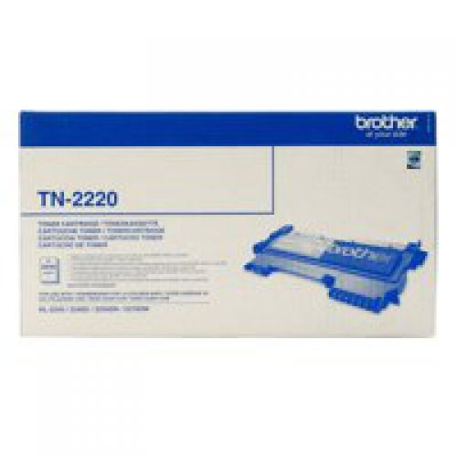 Brother TN2220 Black Toner 2.6K - xdigitalmedia