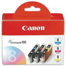 Load image into Gallery viewer, Canon 0621B029 CLI8 CMY Ink 3x13ml Multipack