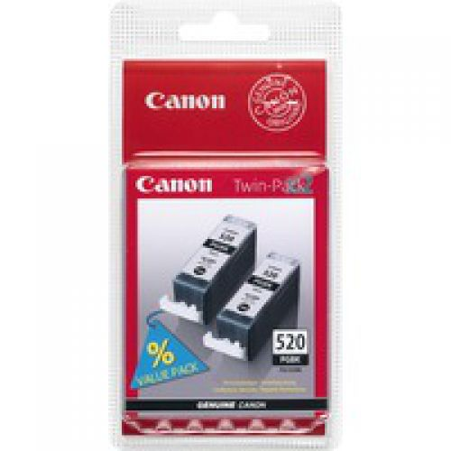 Canon 2932B012 PGI520 Black Ink 19ml Twinpack