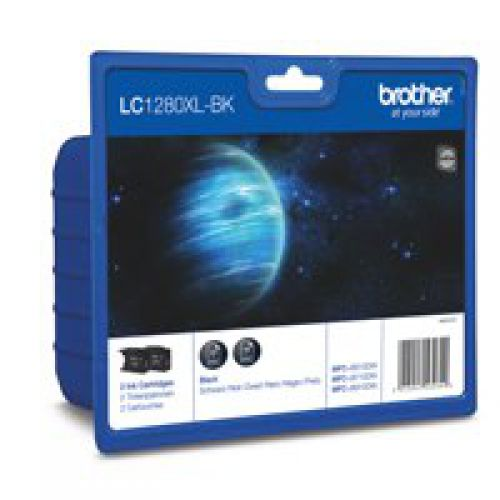 Brother LC1280XLBK Black Ink 2x55ml Twinpack - xdigitalmedia