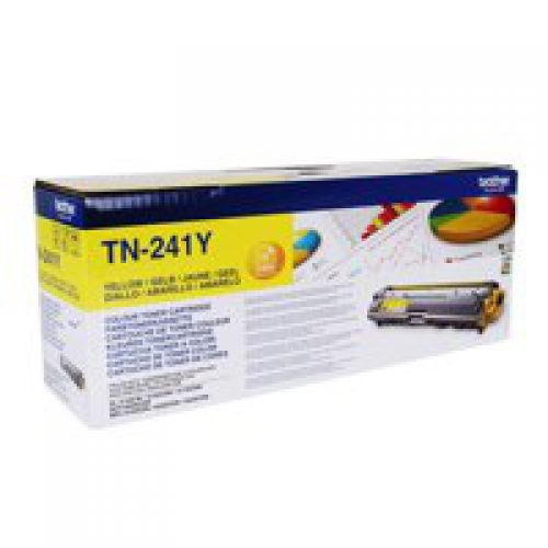 Brother TN241Y Original Yellow Toner Cartridge (1400 pages)