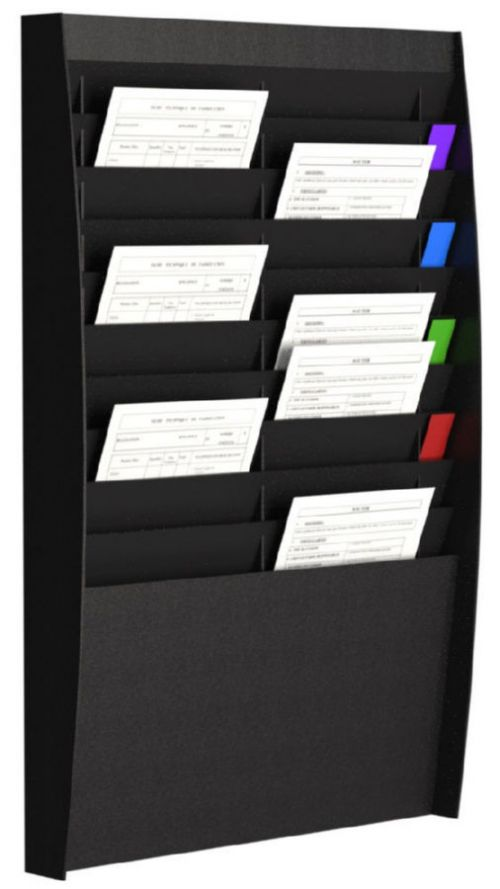 Fast Paper Document Panel 2x10 Comp A4 Black