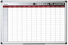 Load image into Gallery viewer, Bi-Office Annual Planner Aluminium frame 900x600 mm