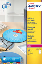 Load image into Gallery viewer, Avery Full Face CD Glossy Laser 117mm DIA L7760-25(25Labels)