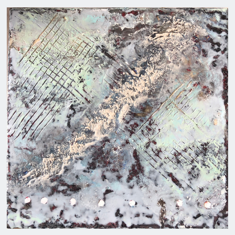 Create texture with encaustic