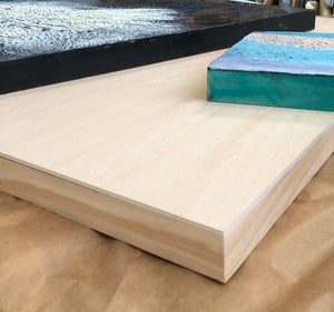 What is a cradled wood panel?