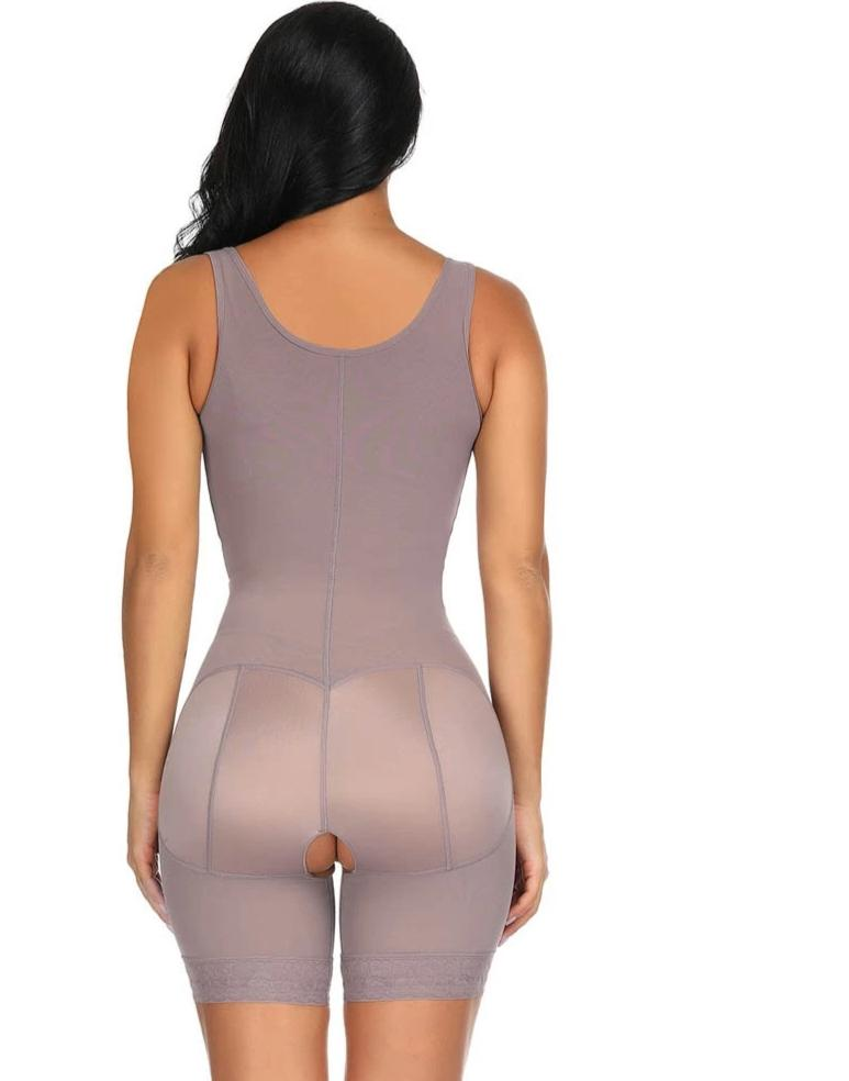 """ARI"" - FULL BODY SHAPER WAIST CINCHER WITH ZIPS & CLIPS W/ BUTT LIFTER"