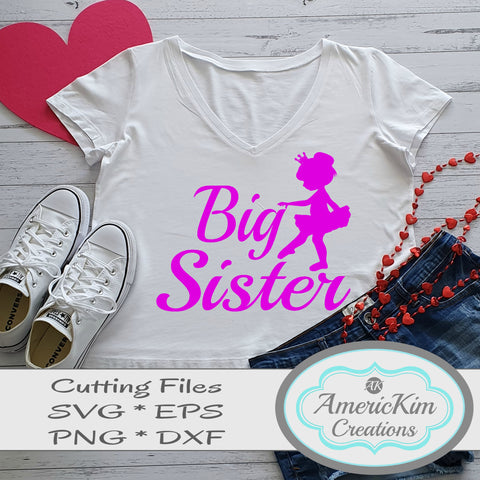 Big Sister Ballerina SVG File Digital Download