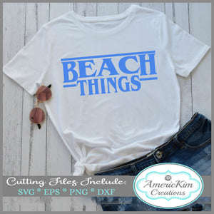 Beach Things SVG File Digital Download
