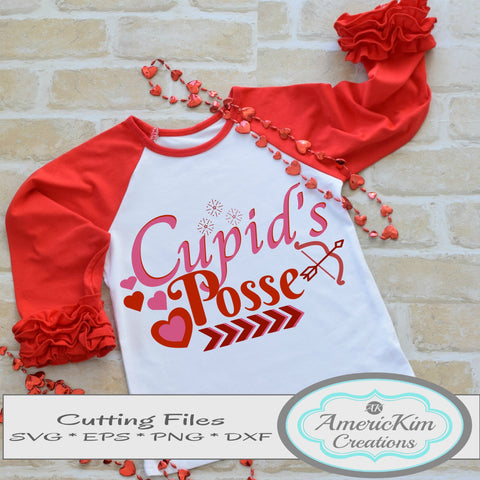 Cupid's Posse Valentine SVG Digital Download Cutting Files