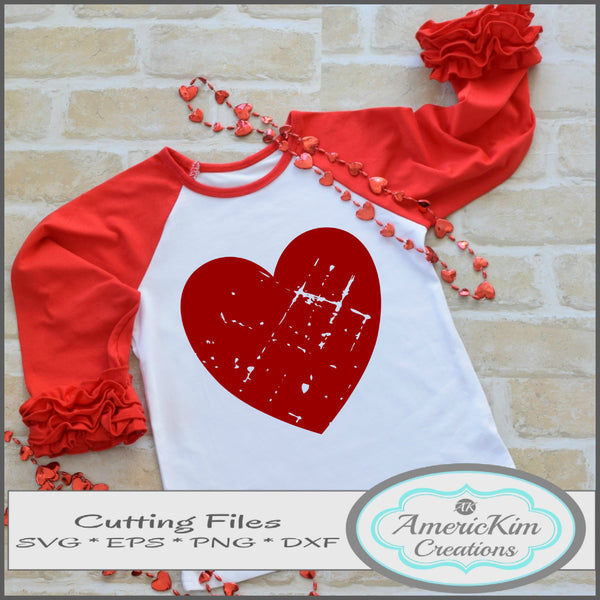 Grunge Heart Valentine SVG Digital Download Cutting Files
