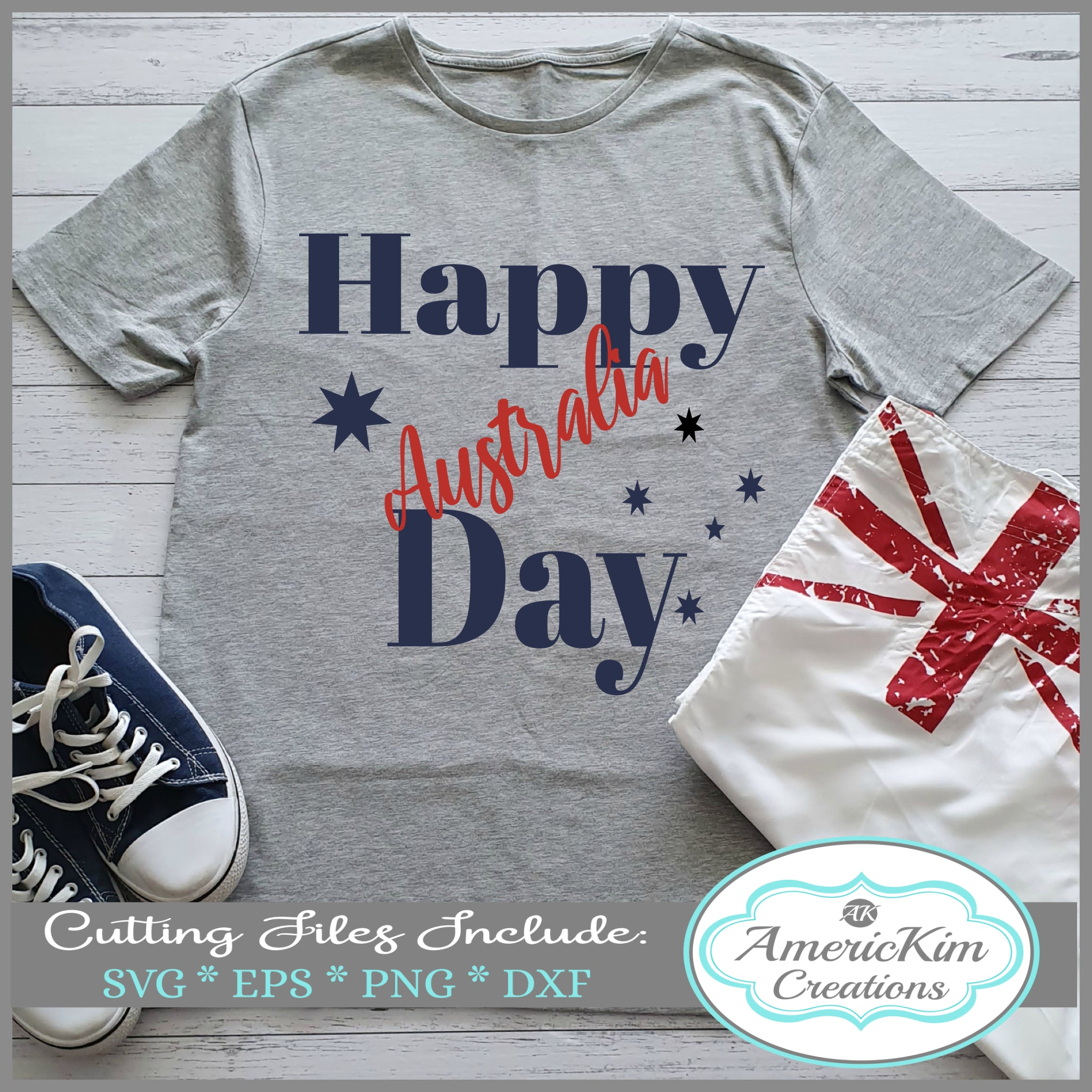 Happy Australia Day SVG File for Australia Day