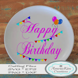 Happy Birthday SVG File Digital Download