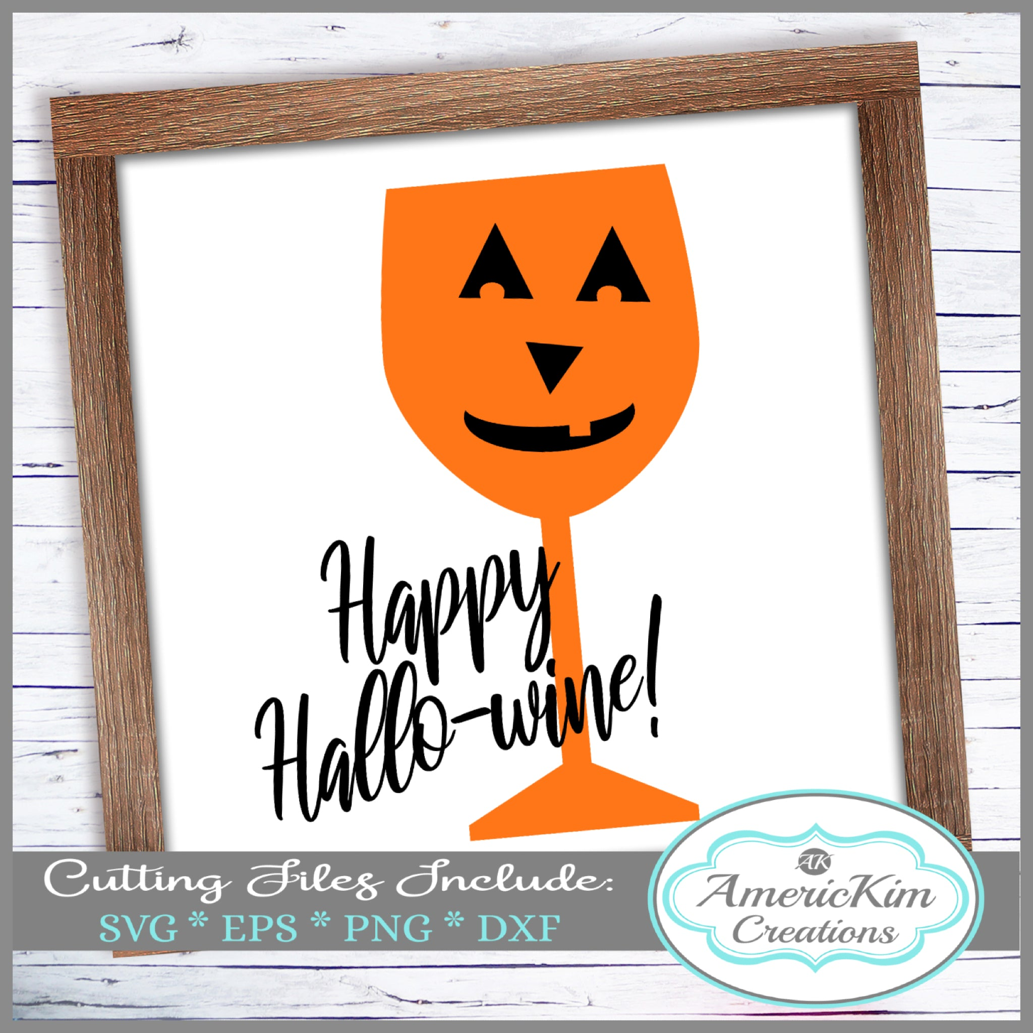 Happy Hallowine Halloween SVG File Digital Download
