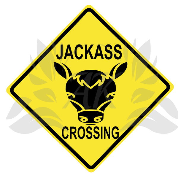 Jackass Crossing Road Sign SVG PDF DXF EPS