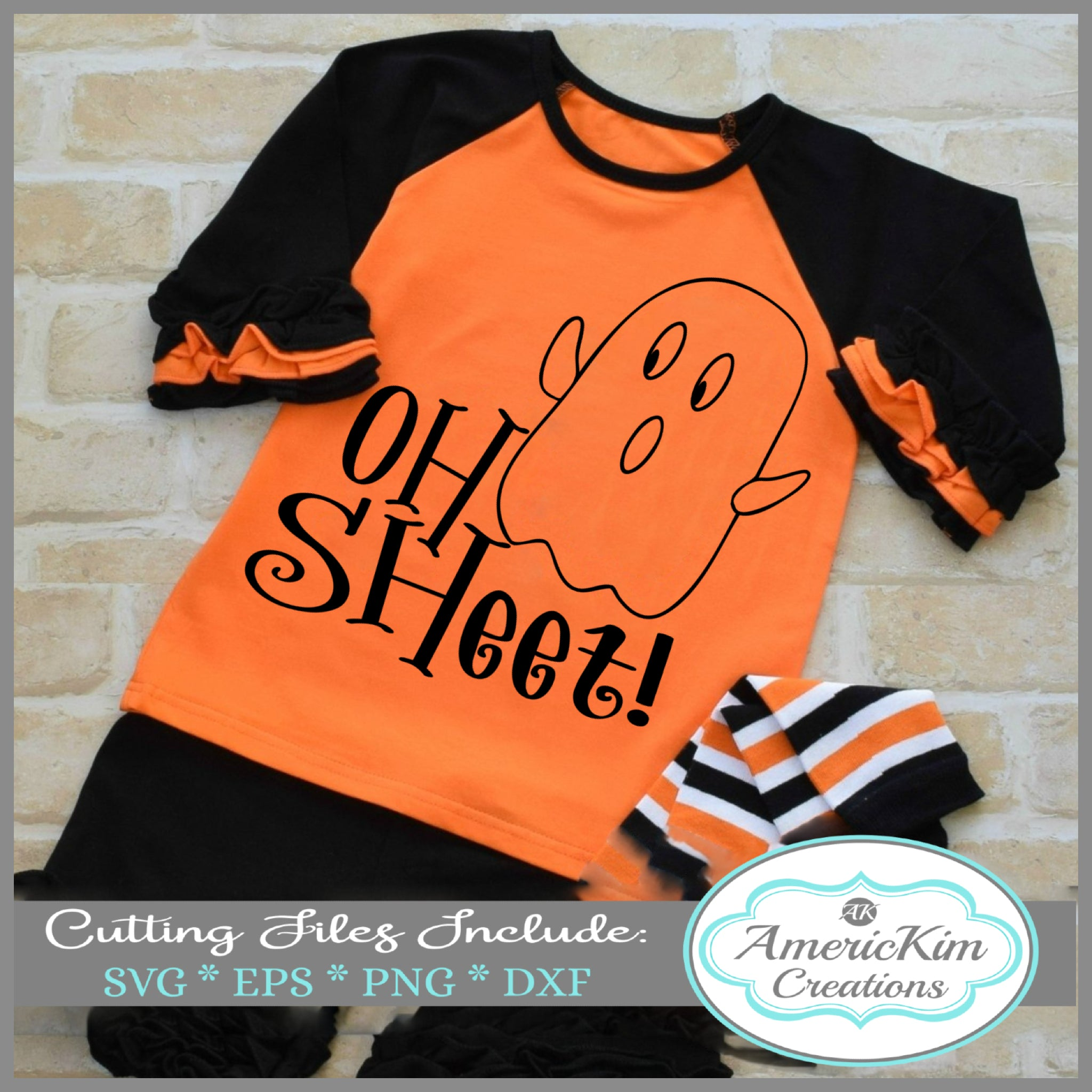 Oh Sheet! Halloween  SVG File Digital Download