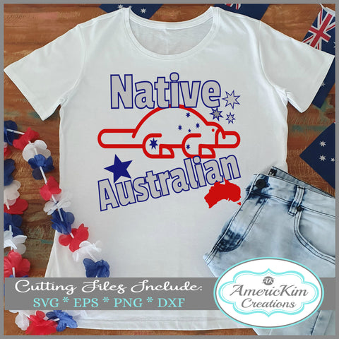 Platypus Native Australian SVG Australia Day