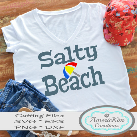 Salty Beach SVG File Digital Download