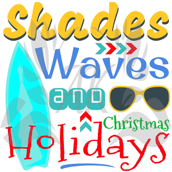 Shades Waves and Christmas Holidays SVG