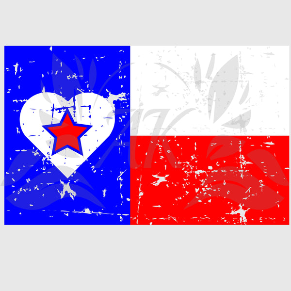 Love Texas Flag SVG Digital Download Cutting Files