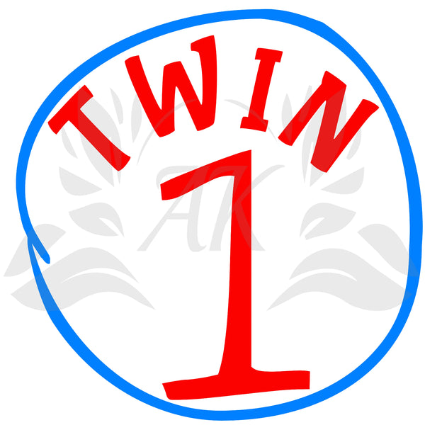 Twin 1 and Twin 2 SVG Files Digital Downloads