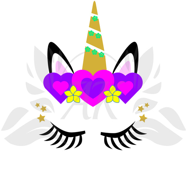 Unicorn Face SVG PDF DXF EPS PNG