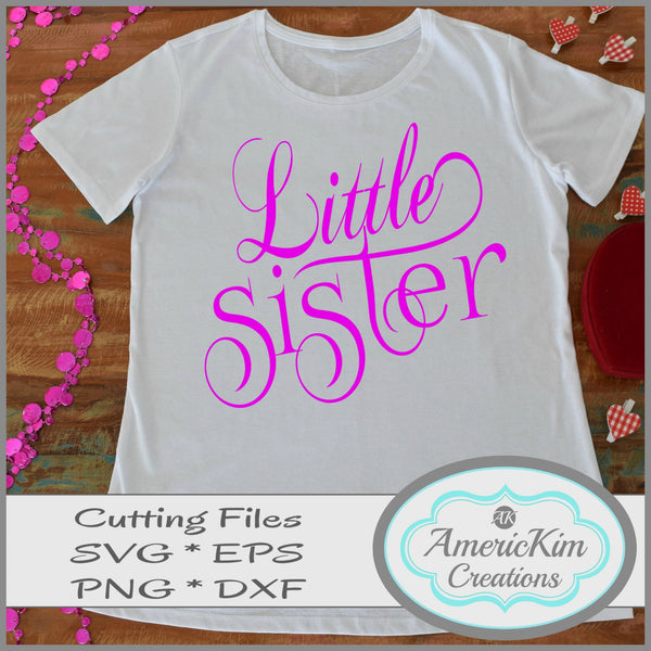 Little Sister SVG PDF DXF EPS PNG