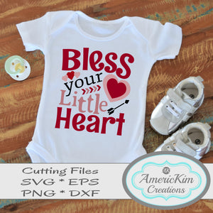Bless your Little Heart Southern SVG File Digital Download