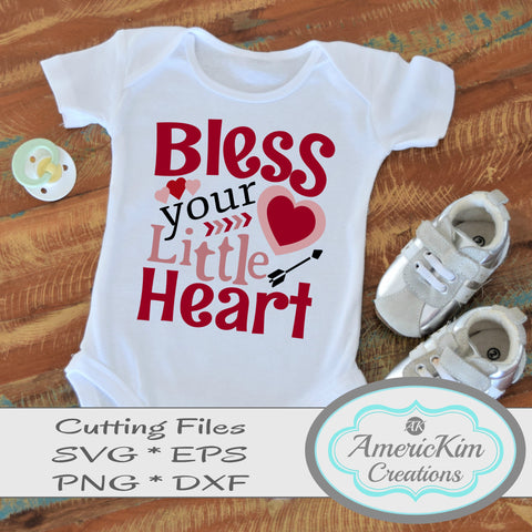 Bless your Little Heart Southern SVG File Digital Download Cutting File Southernisms
