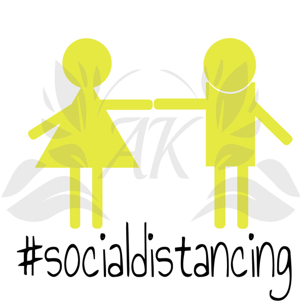 Social Distancing Arm's Length Apart SVG File Digital Download