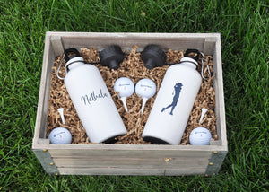 Golf Gift Basket Option with 2 Water Bottles LOCAL PICKUP/DELIVERY ONLY