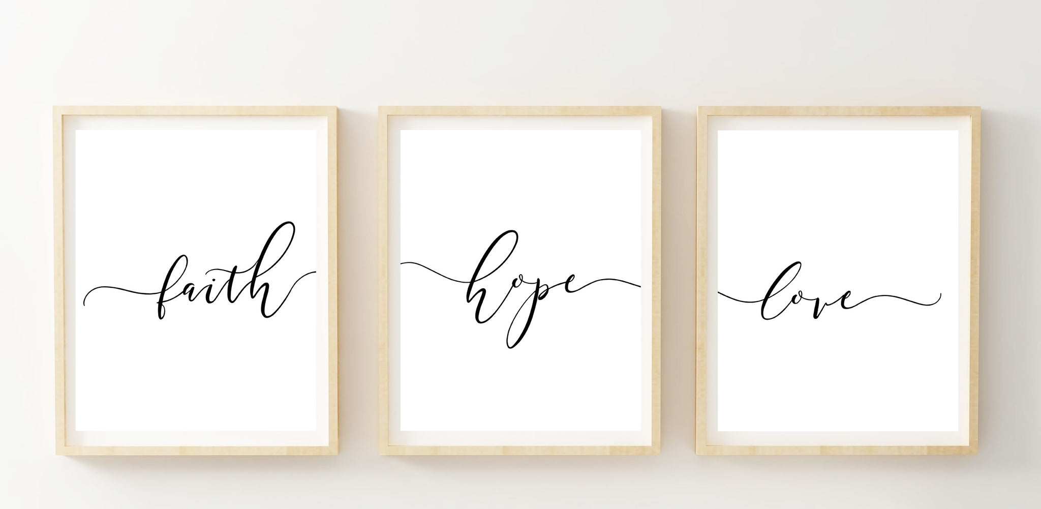 Set of 3 Faith Hope Love Printable