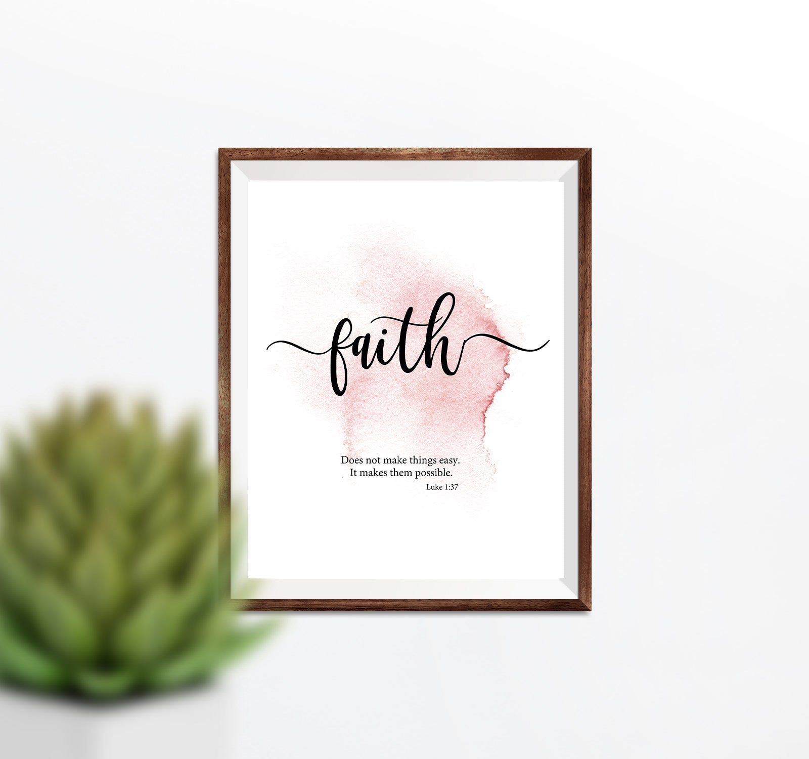 Faith Printable -Pink Inspirational Scripture Printable