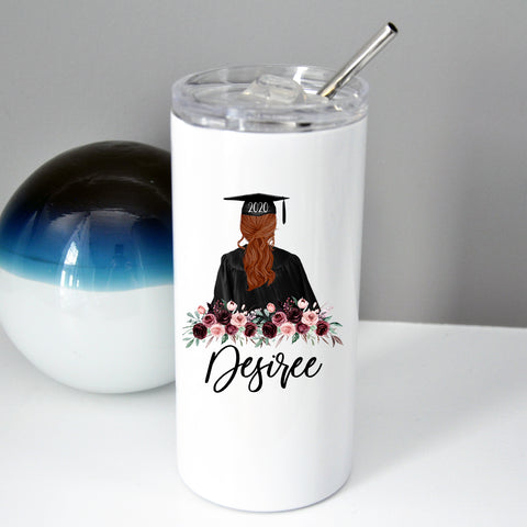 Graduation Tumbler with Straw