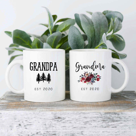 Ceramic Mug Set - Grandpa and Grandma