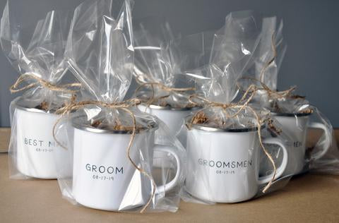 Groomsman, Best Man, Wedding Party Forest Enamel Mug - Wedding Party Gift