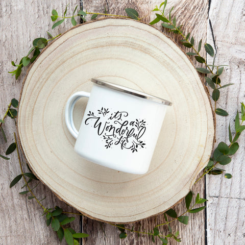 It's a Wonderful Life 12 oz Enamel Mug